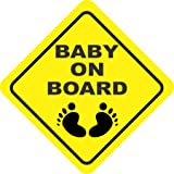 isee360 Reflective Car Safety Baby On Board Decal Sticker Decorative & Safety