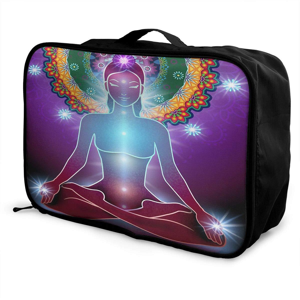 SSZW Yoga Women Travel Duffel Bag Waterproof Fashion Lightweight Large Capacity Portable Luggage Bag
