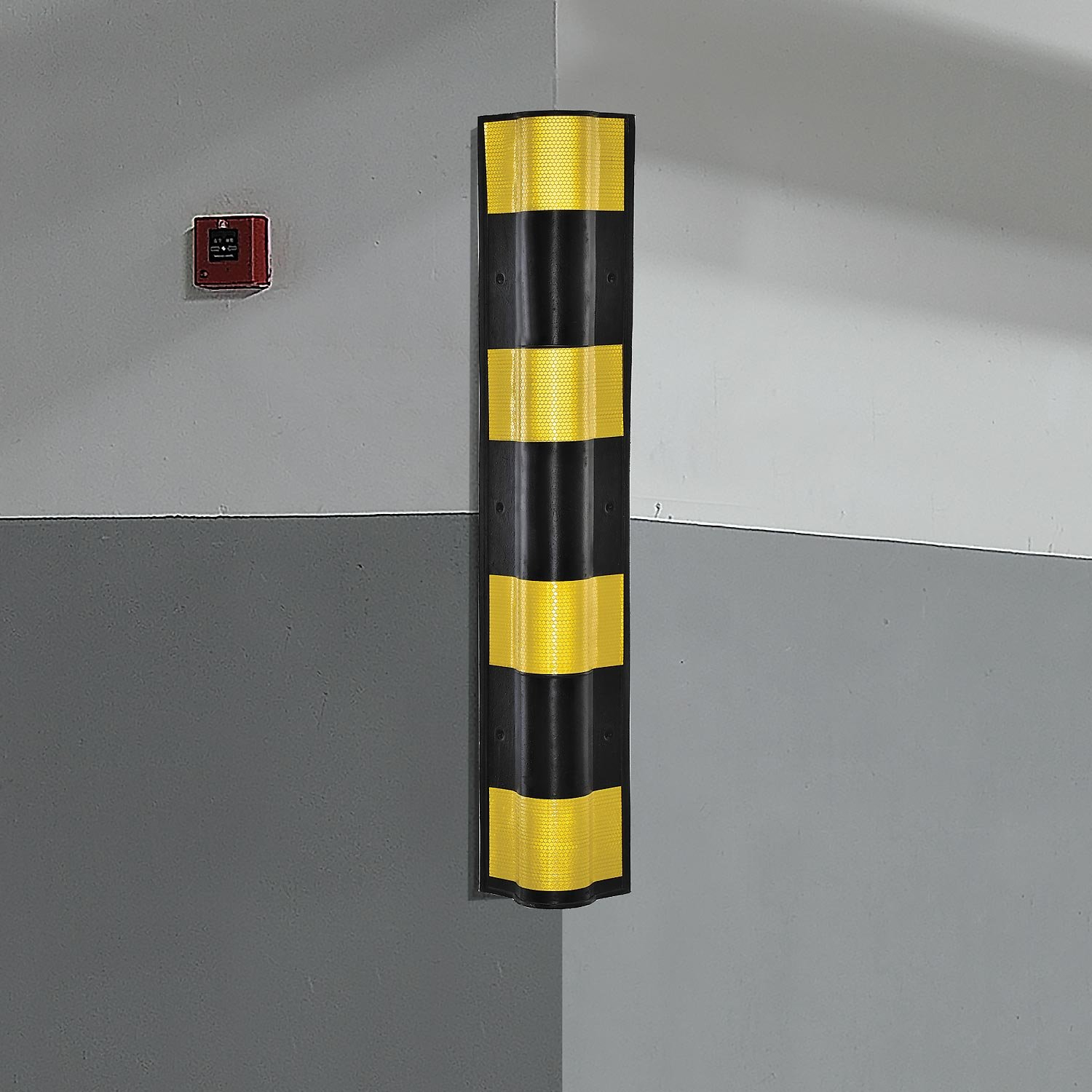 Electriduct Pair of Rubber Corner Guards 31'' for Parking Columns and Garage Walls Round Edge by Electriduct (Image #3)
