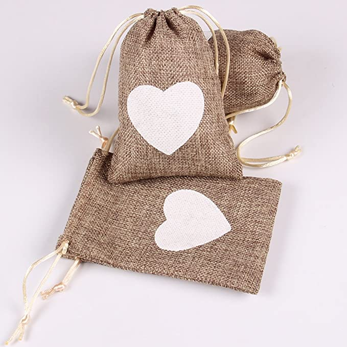 Amazon.com: Advantez - Bolsas de yute natural para regalo ...