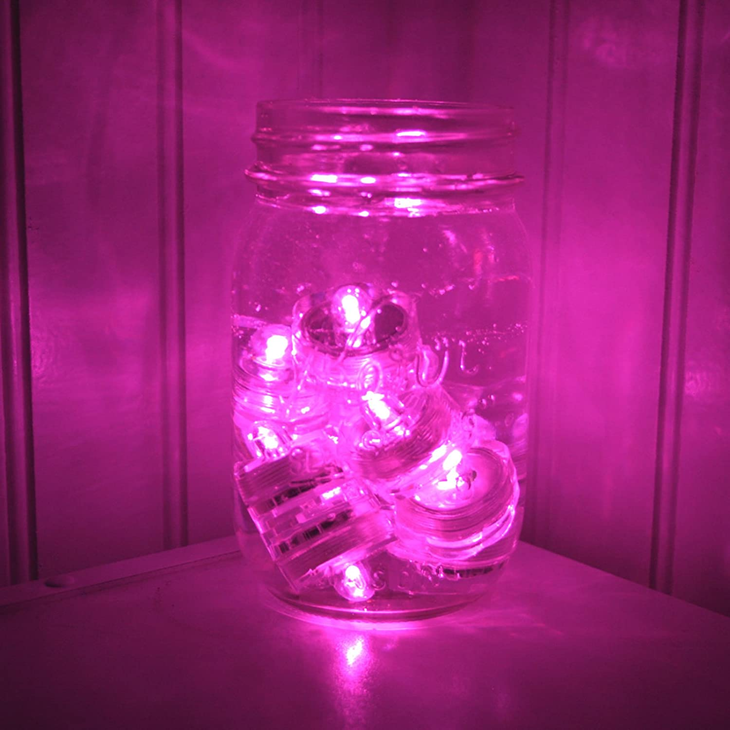 Amazon.com: ~10 Pack~Hot Pink LED Submersible Battery Operated Tea ...
