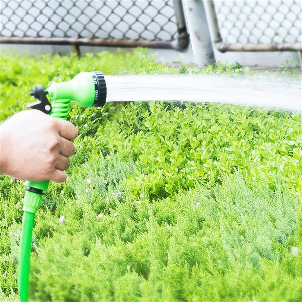 Pressure Washer 25Ft-200Ft Flexible Magic Expandable Power Water Jet Garden Washer Hose Water Pipe Plastic Hose With Spray Gun Irrigation Blue