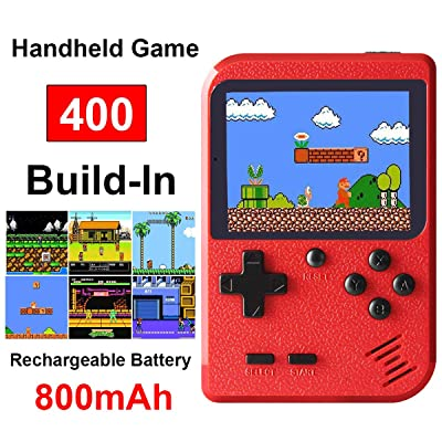 Retro Mini Game Machine,Handheld Game Console with 400 Classical FC Games 2.8-Inch Color Screen Support for TV Output , Gift Birthday for Kids, Adults (Gameboy Red): Toys & Games