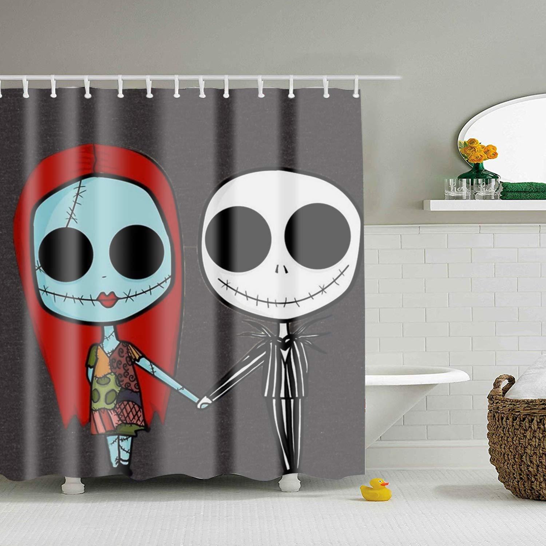 Amazon.com: Lievon The Nightmare Before Christmas Shower Curtain ...