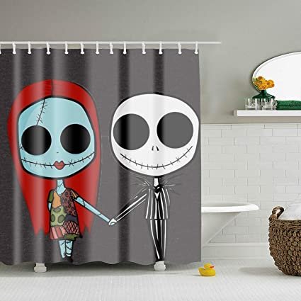 Lievon The Nightmare Before Christmas Shower Curtain