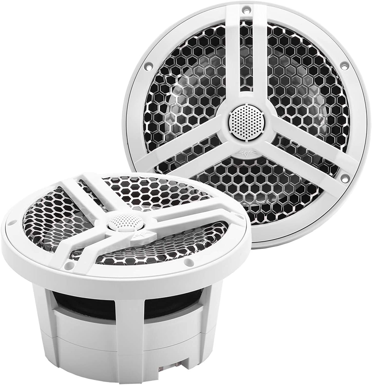 "Skar Audio SK8M 8"" 2-Way Marine Full Range 500 Watt Coaxial Speakers, Pair (White)"