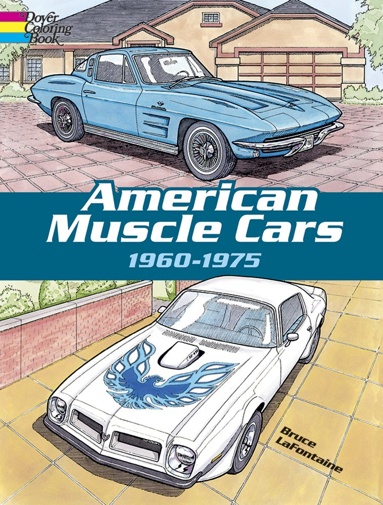 Buy American Muscle Cars Dover History Coloring Book Book