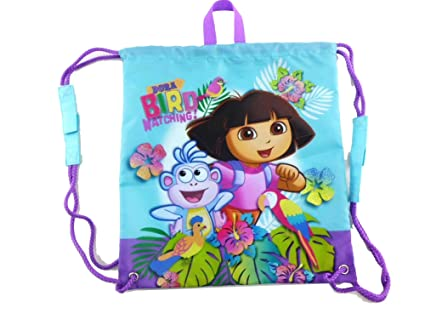 716a1dff7148 Image Unavailable. Image not available for. Color  Dora the Explorer  Drawstring Bag ...