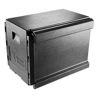 EPP-Thermobox Combi Junior GN 1/1 - Caja térmica con compartimentos frontales y separadores (63 x 50 x 50 cm, 70 L), color negro: Amazon.es: Industria, empresas y ciencia