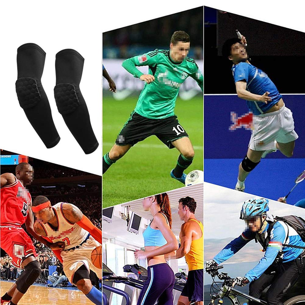 IULONEE Elbow Support Protection 1 Pair Sports Elbow Guard Pads Arm Sleeves