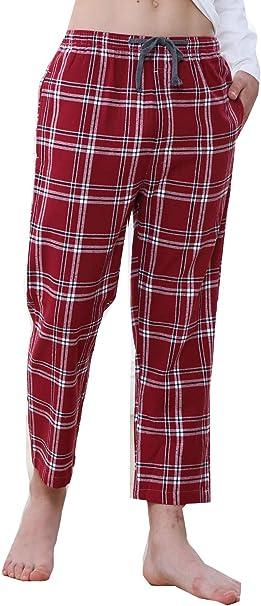 Big Boys Plaid Cotton Pajamas Pants Sleep Loose Bottoms 8-17Years