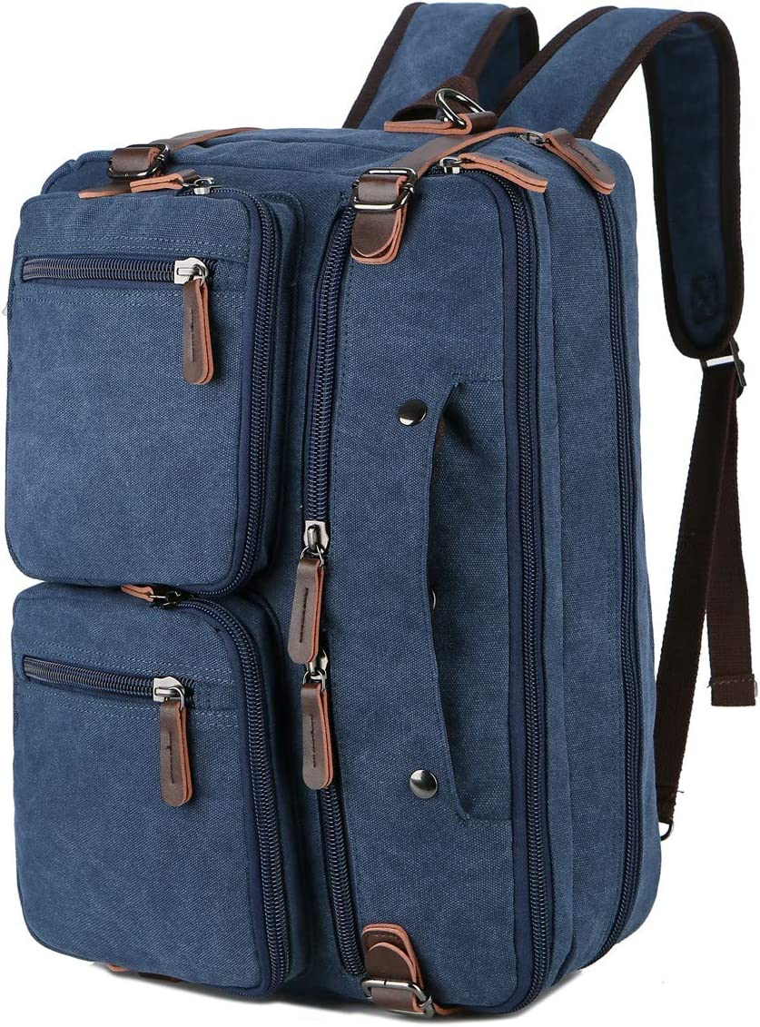 BAOSHA Convertible Briefcase Backpack 17 Inch Laptop Bag Case Business Briefcase HB-22 (Blue)