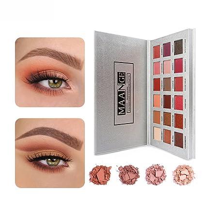 MAANGE Paletas de Sombras de Ojos Paletas de 18 Colores para ...