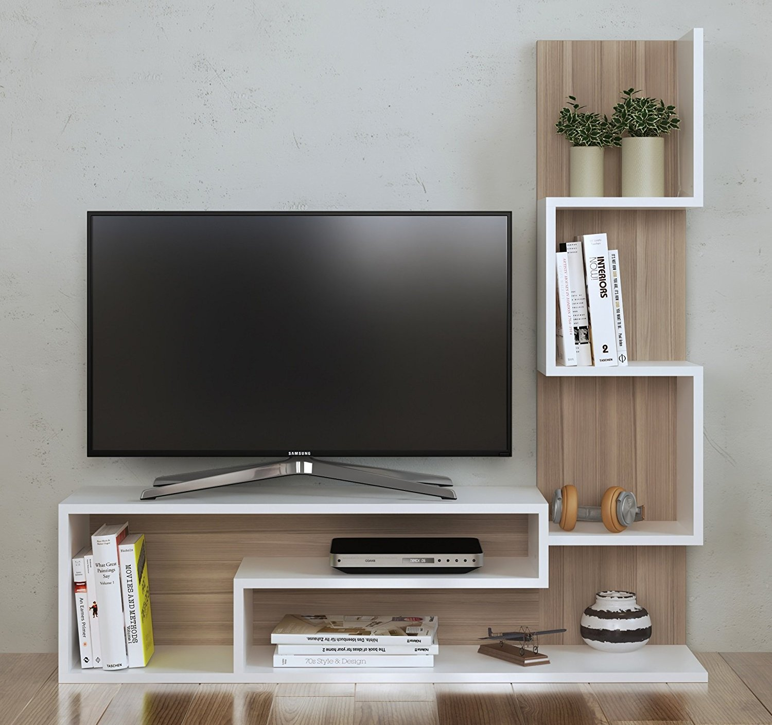 Mimosa Wall Unit Tv Lowboard Tv Stand Living Room Furniture  # Meuble Hifi Tv Design