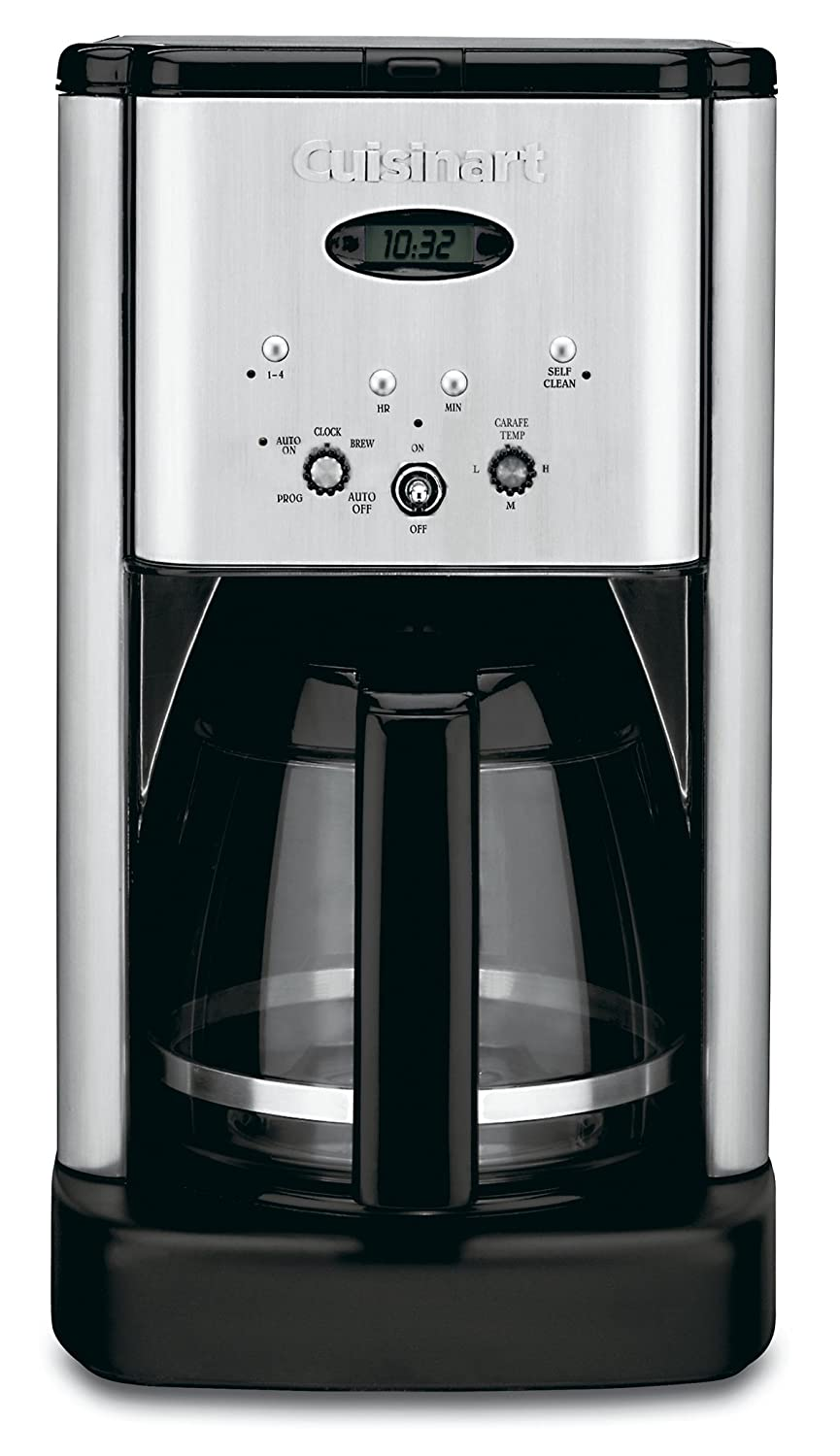 Cuisinart DCC-1200 Brew Central 12 Cup Programmable Coffeemaker, Black/Silver
