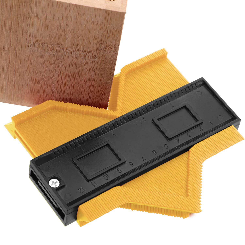 Duplicateur de Jauge de Contour 5 Pouces Jauge de Profil de Contour Orange Duplicateur de Contour Multi-Fonctionnel en Plastique R/ègle de Mesure de Mise en Forme de Bord pour Bois en Stratifi/é