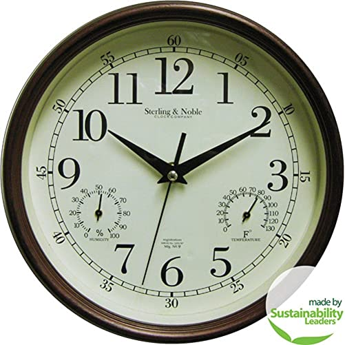 Mainstays Indoor Outdoor Wall Clock, Antique Bronze