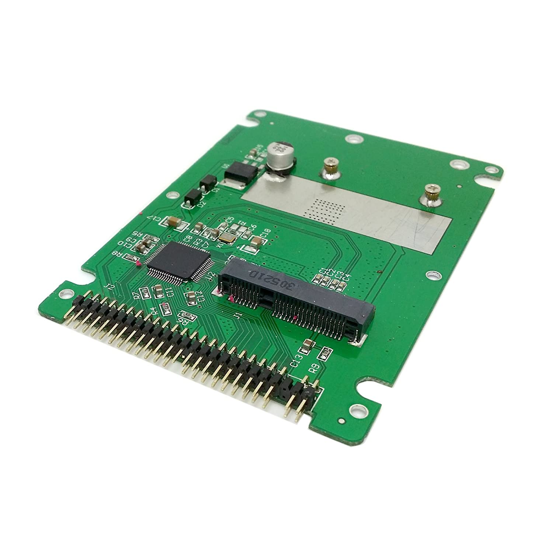 CY mSATA mini PCI-E SATA SSD vers 6,3/cm IDE 44pin notebook Laptop disque dur Case bo/îtier Blanc Couleur