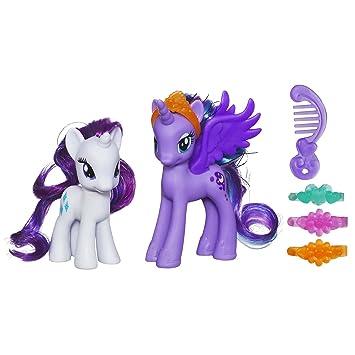 Amazoncom My Little Pony Princess Luna and Rarity Figures Toys