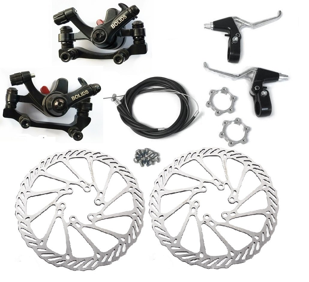 Bluesunshine Bb8 Front And Back Disk Brake Kit 160mm For 80cc Gas Rotor 160 Mm Avid G3cs Motorized Bicycle G3 3