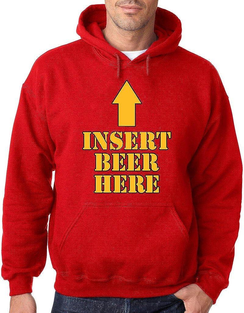 VISHTEA Insert Beer Here Hoodie Funny Drinking Beer Deer Sweatshirt