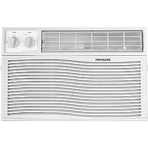 FRIGIDAIRE FFRA0811U1 FFRA0811U1-8,000 115V Window-Mounted Mini-Compact Mechanical Controls, Air Conditioner, 8000 BTU, White