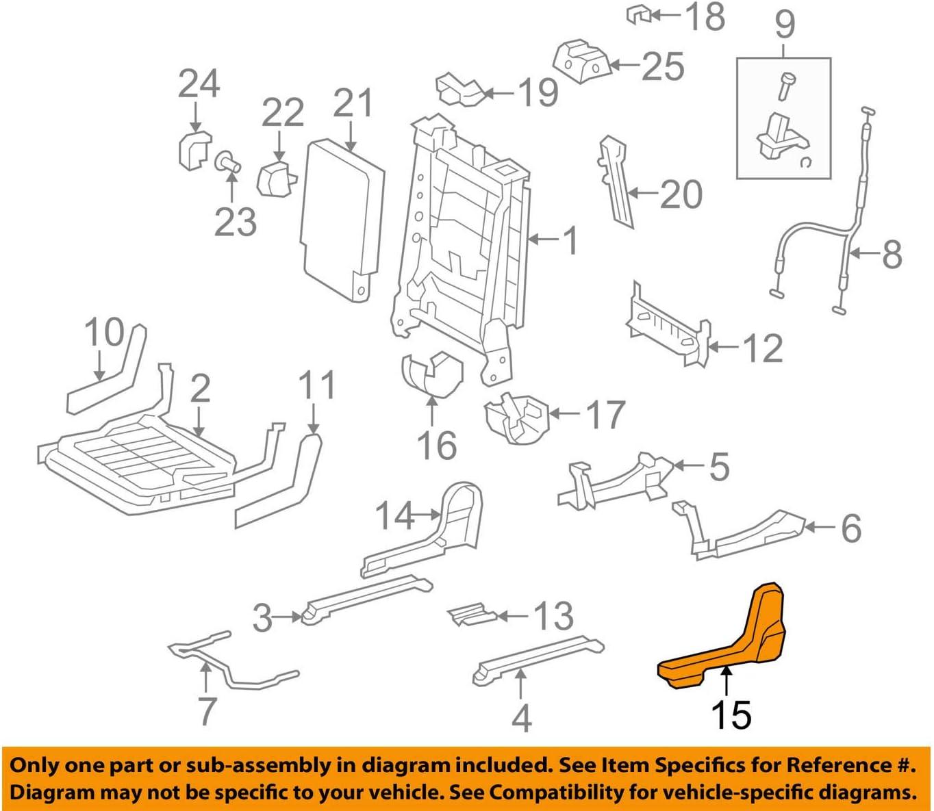 TOYOTA 71396-0C010-B0 Seat Hinge Cover
