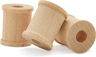 product image for Wooden Spools 1/2 x 1/2 inch Pack of 500 Unfinished Mini Birch Wood Spools, Splinter-Free, for Crafts and Wood Jewelry by Woodpeckers