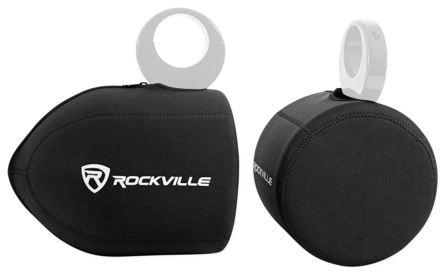 Rockville Neoprene Covers For (2) Wet Sounds ICON8 8 Wakeboard Tower Speakers RWBC80 For (2) ICON8