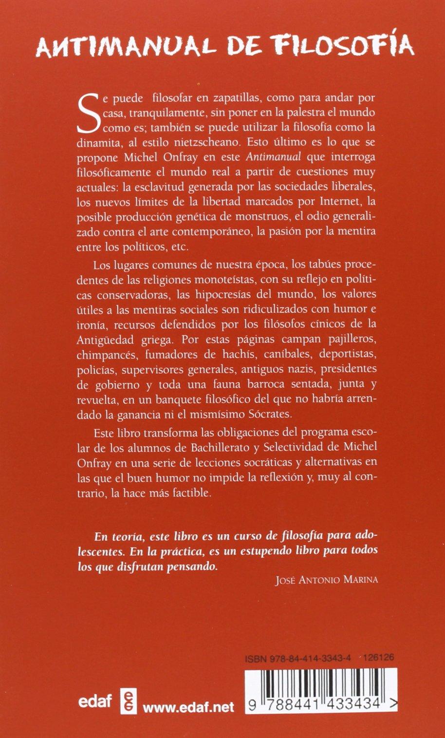 Antimanual de filosofia (Spanish Edition): Michel Onfray: 9788441433434: Amazon.com: Books