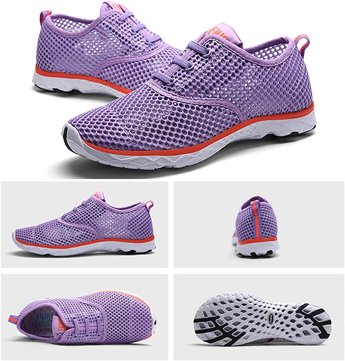 Quick Drying Aqua Beach Barefoot Shoes Athletic Sneaker Outdoor Slip on for Fishing Surfing gracosy Mens Womens Water Sport Shoes