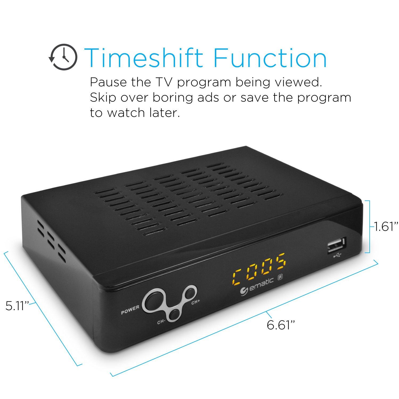 Amazon.com: Digital Converter, Ematic Digital TV Converter Box with  Recording, Playback, & Parental Controls [ AT103B ]: Electronics