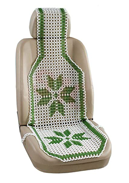 Speedwav 20385 Acupressure Design Marble Bead Seat Green