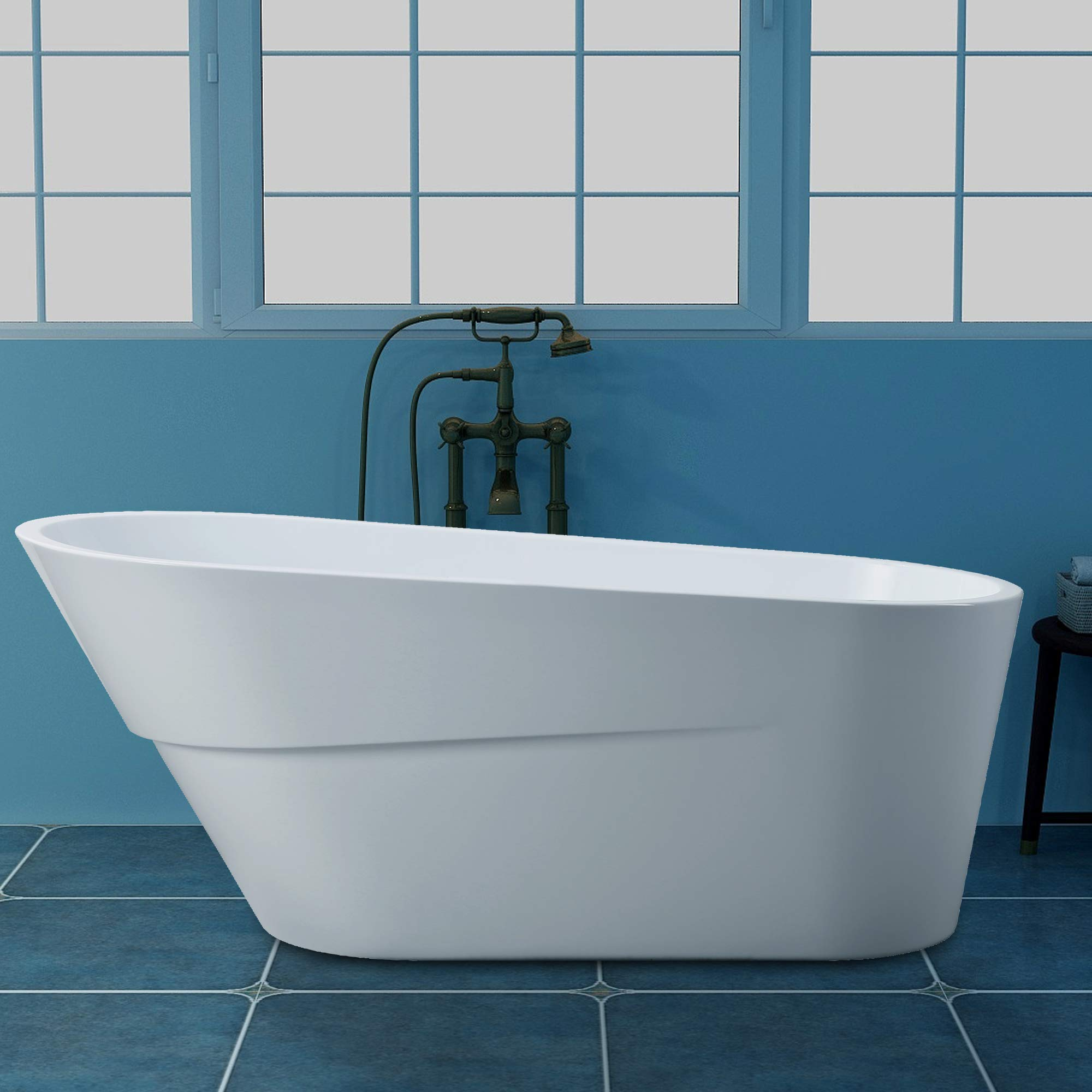 Vanity Art 67 inch Freestanding Acrylic Bathtub | Modern ...
