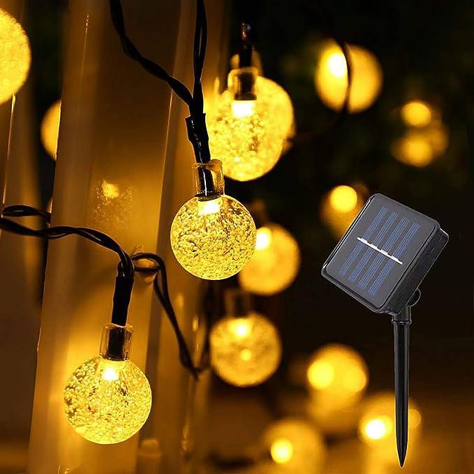 Amazon.com: IMOZEN Upgrade 100 LED Solar Globe String Lights Outdoor, 8 Modes 39ft Waterproof Crystal Ball Solar String Lights Garden Patio Lights for Yard Home Party Wedding Christmas Decoration(Warm White): Home Improvement