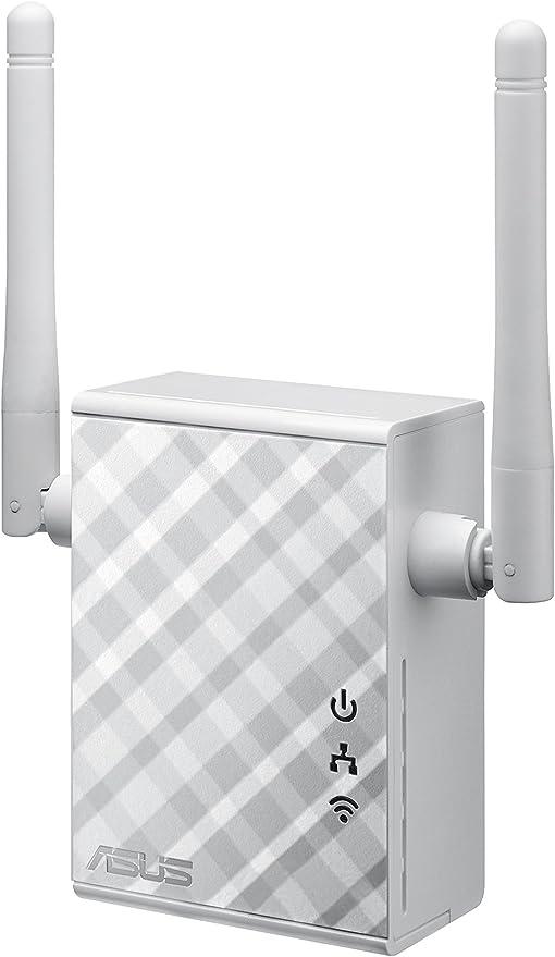 ASUS RP-N12 - Repetidor/Punto Acceso inalámbrico N300 (Antenas externas, WPS, Puerto LAN), Blanco