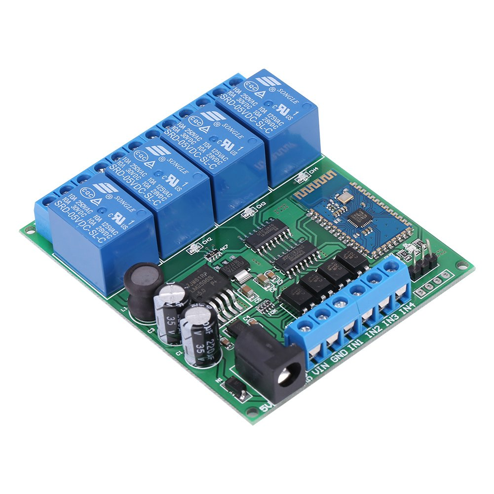 4 Channel Bluetooth Relay Module Phone Wireless Remote Control Controlled Toy Car Circuit With Transceiver Switch Industrial Scientific