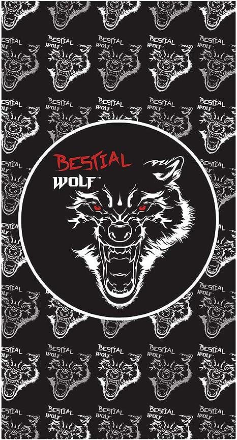 Bestial Wolf - Cuello Unisex, diseño de Lobo Grande, Fabricado en España, Negro, Talla única: Amazon.es: Deportes y aire libre