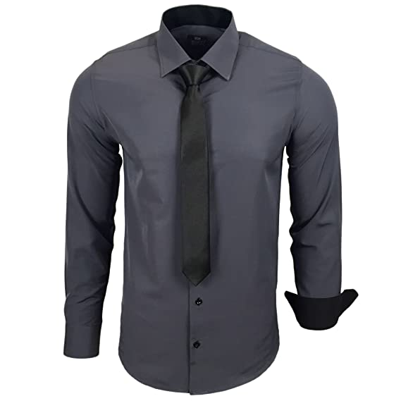 Rusty Neal R 44 Kr Chemise Contrastee Pour Homme Avec Cravate Ideal