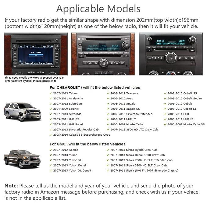 Amazon Maxtrons Car Dvd Gps Navigation Stereo Headunit Radio Rhamazon: 2007 Chevy Hhr Lt Factory Radio At Gmaili.net