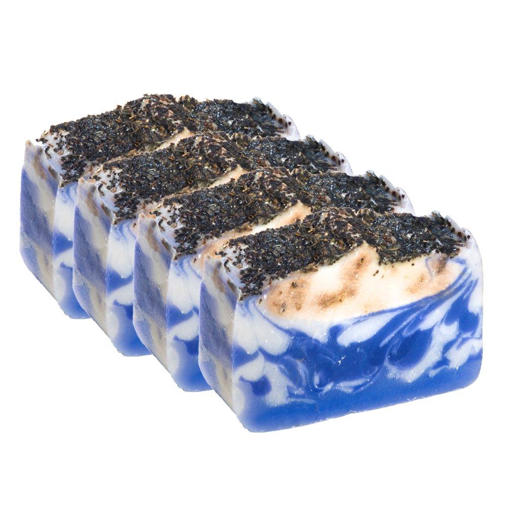Französischer Lavendel Basilikum Seifenstück (4Oz) -handgemacht und biologisch mit ätherischen Ölen. Natürliche feuchtigkeitsspendende Körperseife für Haut und Gesicht. Mit Shea Butter, Kokosöl, natürlichem Glycerin Kokosöl natürlichem Glycerin Falls River