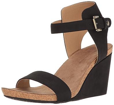 Adrienne Vittadini Footwear Womens Ted Sandal Black Size 85