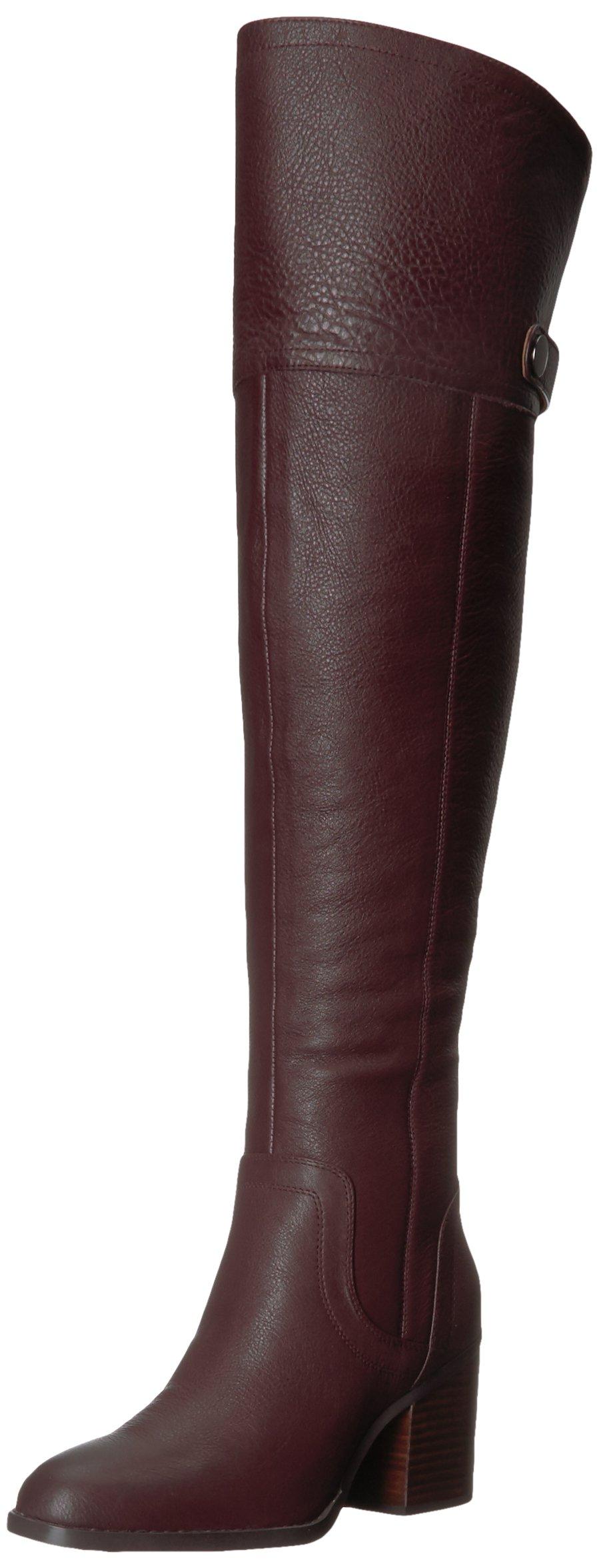 Franco Sarto Women's Ollie Over The Knee Boot, Dark Burgundy, 8.5 M US