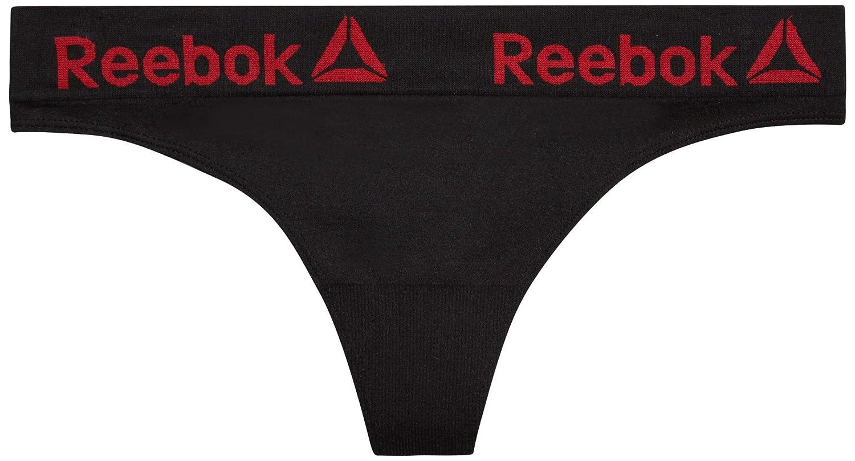 Reebok Womens Nylon//Spandex Seamless Thong Underwear 6 Pack