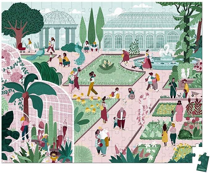 Juratoys-Janod Puzzle jardín botánico 200 Piezas: Amazon.es: Juguetes y juegos