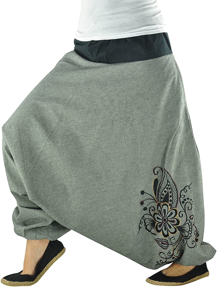 virblatt Haremshose Damen Hippie Kleidung Damen Yoga Kleidung Frauen Yogahose Phanvad