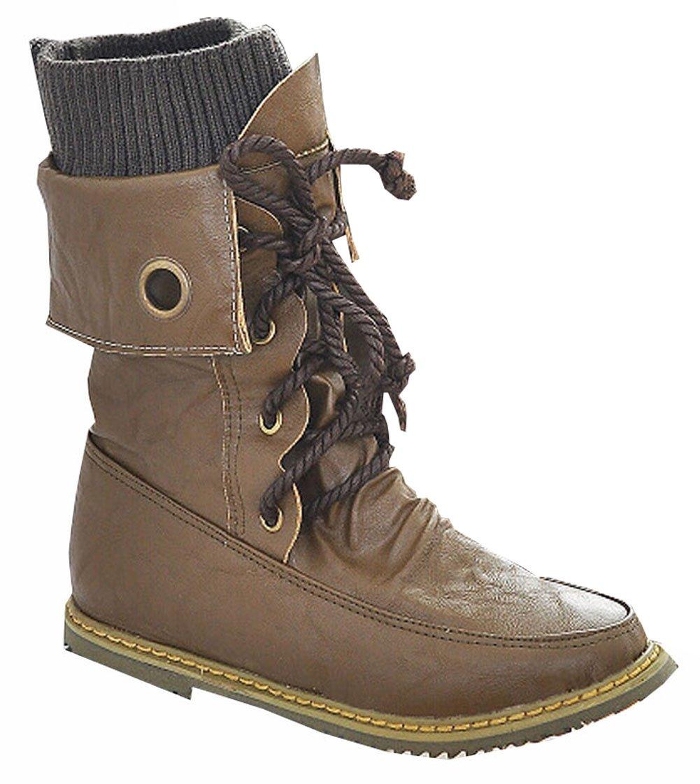 moto de la cuir mode 41,5 B002A0WB5U Martin bottines pour femmes, appartements bottes de neige d hiver en cuir bottes chaussures taille plus 34,5 à 41,5 Brun 04d1ae5 - digitalweb.space