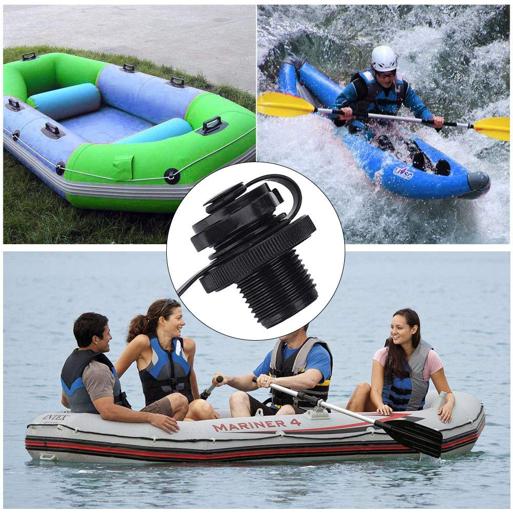 Gwolf Tapones de Aire en Espiral para Botes inflables Boquilla en Espiral para Kayaks Cubierta de v/álvula para Botes inflables Boquilla para Tapones de Aire V/álvula de Aire