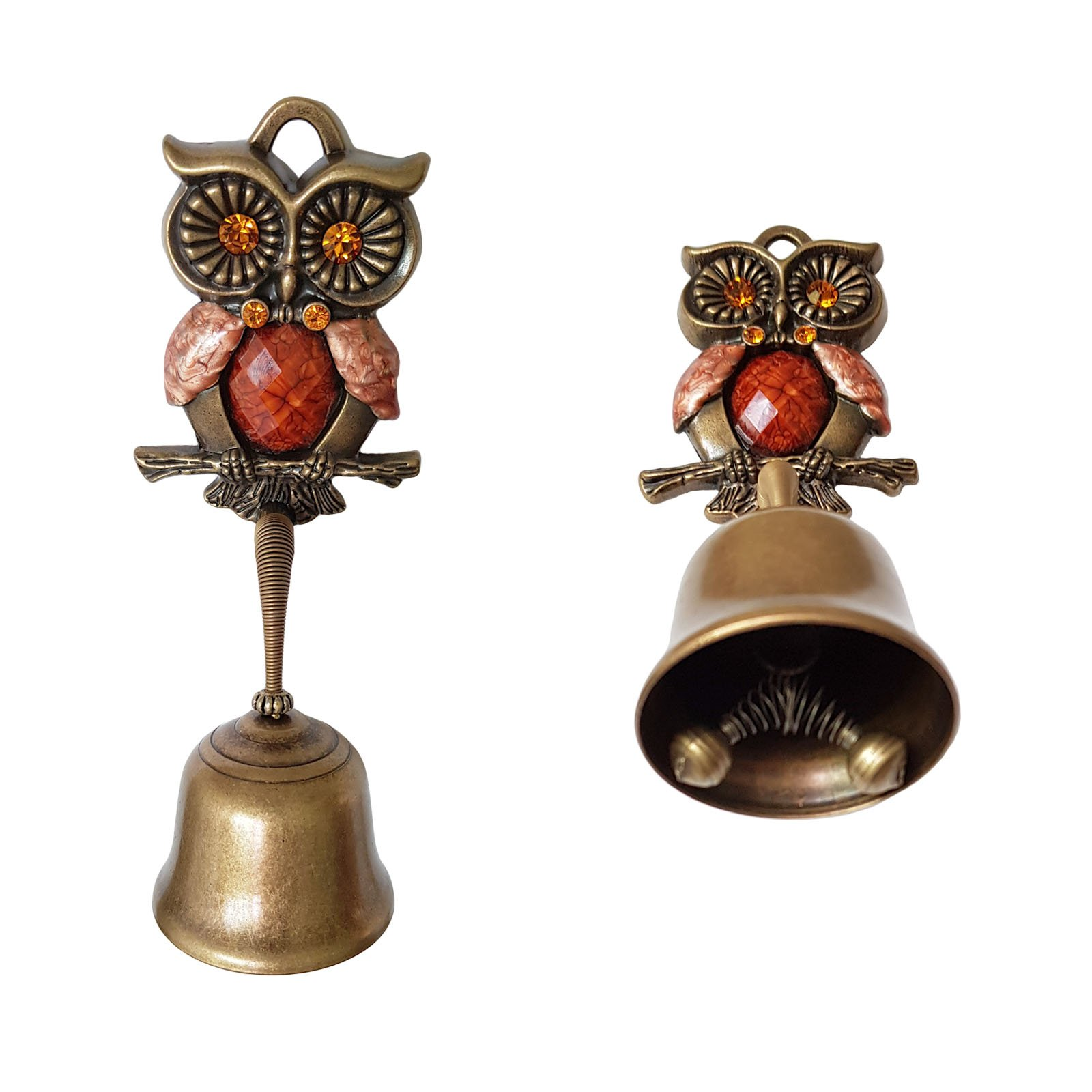 Owl Springy Shopkeepers Bell Entrance Alert Chime Compact & Lightweight Unique Design Home Decoration Doorbell A-Type (Orange) by YG-1 (Image #3)