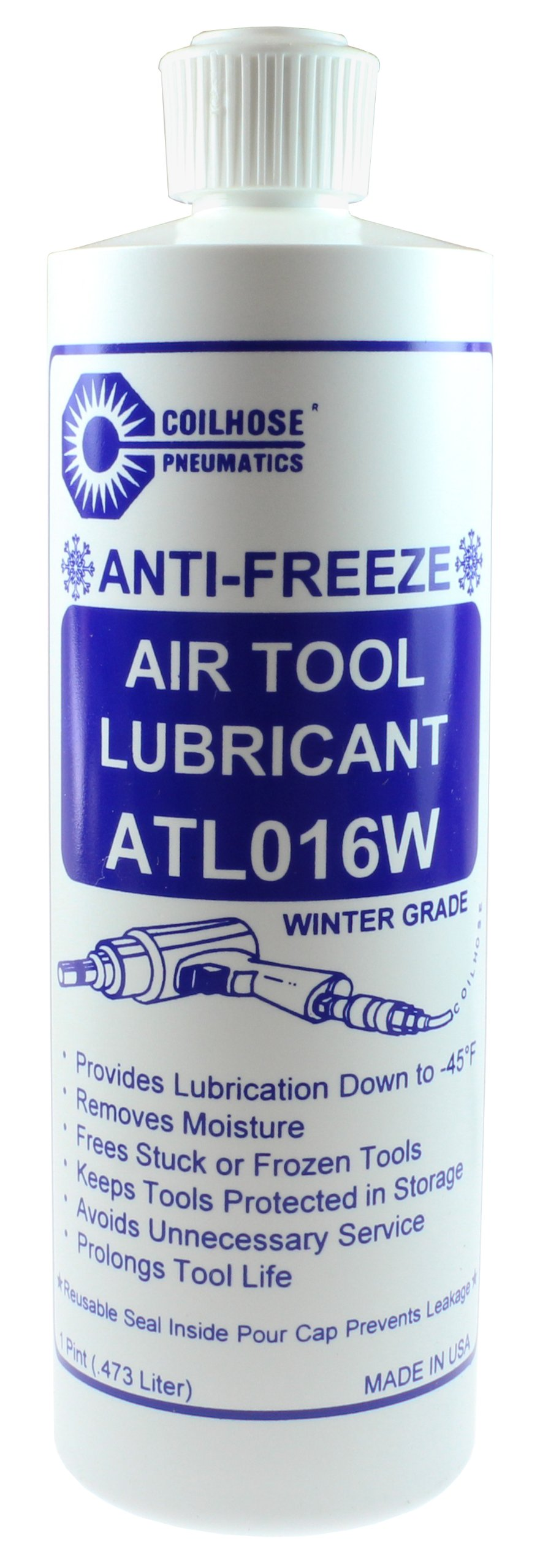 Coilhose Pneumatics ATL016W Wintergrade Air Tool Lubricant, 16-Ounce Bottle